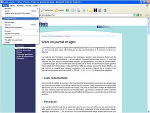 Enregistrer la page Web à l'aide du navigateur