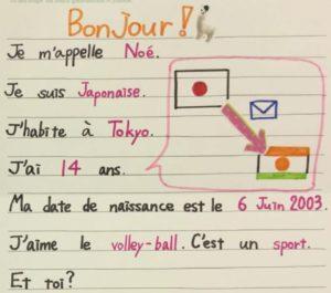 JAPON : échange culturel par correspondance avec le Niger